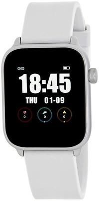 Smart watch MAREA cuadrado silicona blanco