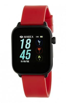 Smart watch MAREA cuadrado silicona rojo