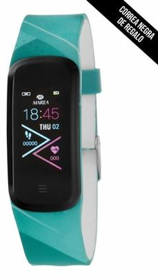 Smart watch MAREA loop ovalado 2 correas turquesa/negra