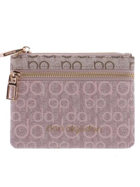 Cartera DON ALGODON plana multicolor con logo