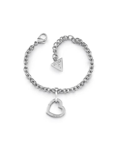 Pulsera GUESS  Hearted Chain Corazón Silver
