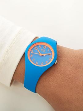 Reloj ICE WATCH Moon azul detalle naranja